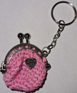 Schlüsselanhänger in rosa, Einzelstück