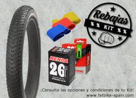 KIT Cubierta + Cámara  +Fondo de Llanta