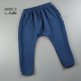 Musselinhose - jeans - Gr. 92 BIO