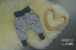 Basic Pants - grau & weiß - Gr. 62
