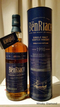 Benriach Single Cask #5958 Triple Distilled Oloroso Sherry Finish 18 Jahre 1998/2016