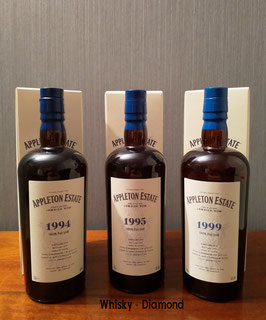 Appleton Hearts Collection 100% Pot Still 3er Set 1994/2020,1995/2020,1999/2020