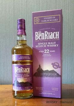 Benriach Dark Rum Wood Finish 22 Jahre