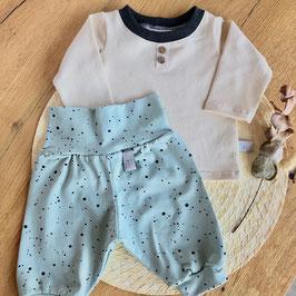 Set Shirt & Pumphose beige/türkis