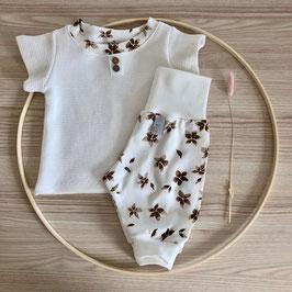 Set T-Shirt & Pumphose Blumen Gr. 50/56