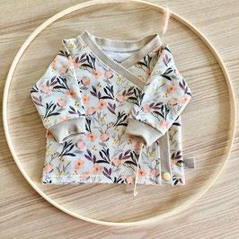 Baby Wickel-Shirt Sommerblumen Gr. 56