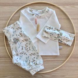 Set Shirt, Pumphose & Stirnband ''Weidenkätzchen'' Gr. 50/56