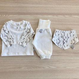 Set Shirt, Pumphose & Halstuch ''Weidenknospen''