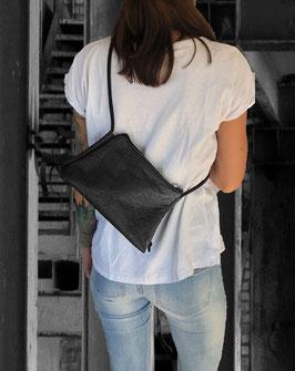 Handtasche kleine elegante Tasche Designer-Tasche schwarz,nude oder rot aus PINATEX® Geschenk für Frauen |BAG # 136