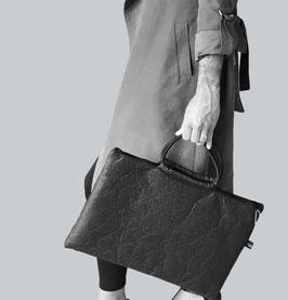 Große Handtasche Messengerbag Tasche für Laptop Aktentasche rot, kaffeebraun oder schwarz aus PINATEX® Unisex∣BAG#105