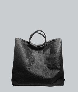 Tote Bag Einkaufstasche Beuteltasche Handtasche schwarz aus PINATEX® Geschenk für Frauen ∣BAG#137