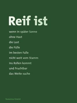 Susanna Gneist ‹Reif ist›
