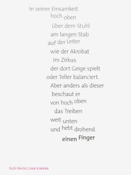 Ruth Werfel ‹Der Finger›