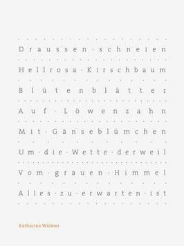 Katharina Widmer ‹Draussen schneien›