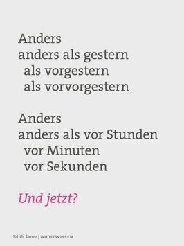 Edith Saner ‹Nichtwissen›