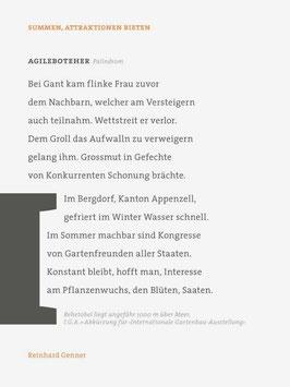 Reinhard Genner ‹Summen, Attraktionen bieten›