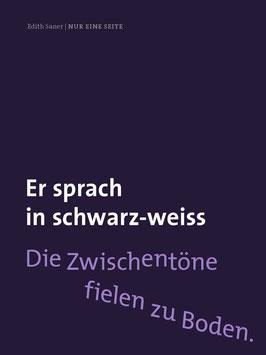 Edith Saner ‹Nur eine Seite›