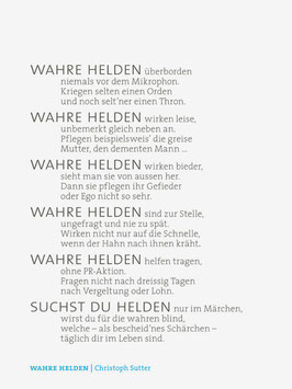 Christoph Sutter ‹Wahre Helden›