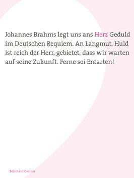 Reinhard Genner ‹Uns Sterblichen tut Not Geduld›