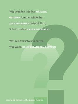Reinhard Genner ‹Dies Jahr aktuell›