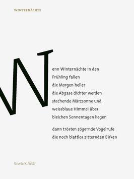 Gisela K. Wolf ‹Winternächte›