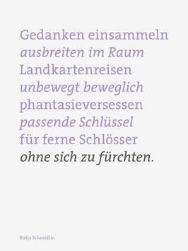 Katja Schmidlin ‹Gedanken einsammeln›