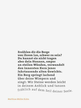 Matthias Müller Kuhn ‹Erzählen dir die Berge›