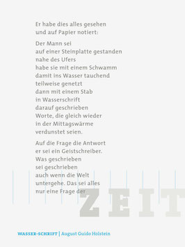 August Guido Holstein ‹Wasser-Schrift›