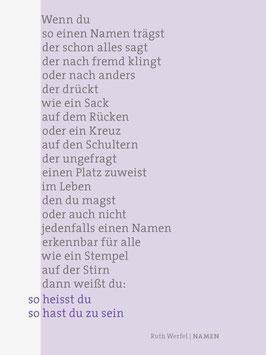 Ruth Werfel ‹Namen›