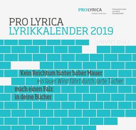 Lyrikkalender 2019