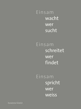 Susanna Gneist ‹Einsam›