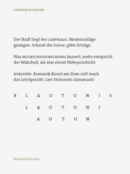 Reinhard Genner ‹Lohnende Reisen›