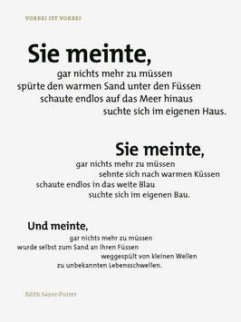 Edith Saner-Furrer ‹Vorbei ist vorbei›