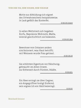 Reinhard Genner ‹Von der Sie, den Siegen, den Siegeln›