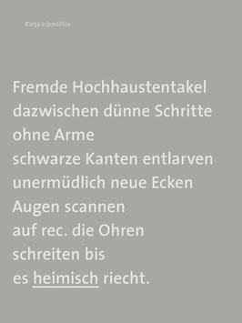Katja Schmidlin ‹Fremde Hochhaustentakel›