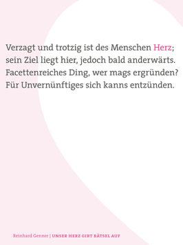 Reinhard Genner ‹Unser Herz gibt Rätsel auf›