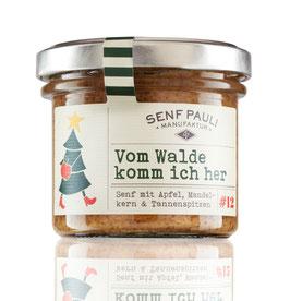 AUSVERKAUFT Weihnachtsedition: Vom Walde komm ich her: Senf mit Apfel, Mandelkern & Tannenspitzen