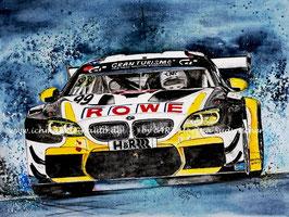 BMW M6 GT3 ROWE Racing #99 Nicky Catsburg Sieger 24h Rennen Nürburgring 2020
