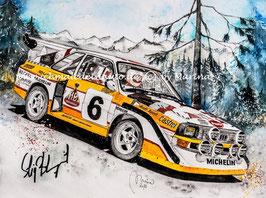 Audi Sport quattro S1 #6 Stig Blomqvist (mit Autogramm)