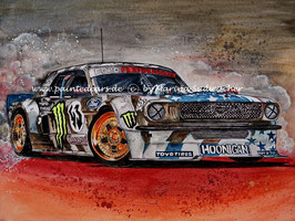 "Ken Block drifts up Pikes Peak #43 Ford Mustang ""Hoonicorn"" RTR"