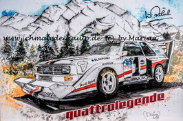 Audi Sport quattro S1 Pikes Peak #1 Walter Röhrl (mit Autogramm) quattrolegende