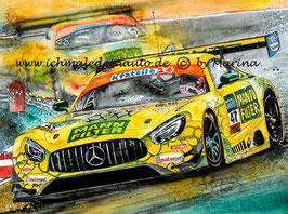 "Mercedes AMG GT3 MANN-Filter ""Gelbe Mamba"" Team HTP #47 Maximilian Götz"
