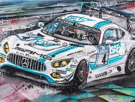Mercedes AMG GT3 #4 Team Black Falcon  Sieger 24h Rennen Nürburgring 2016