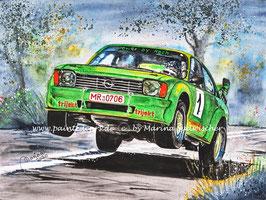 """Opel Kadett C Coupe """"The green beast"""" Rallye #1 Marco Koch / Stefan Assmann"""