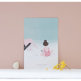 Carte sur la Plage Fille (My Lovely Thing)