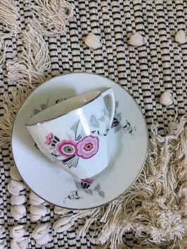 Tasses à café et soucoupes (x4)