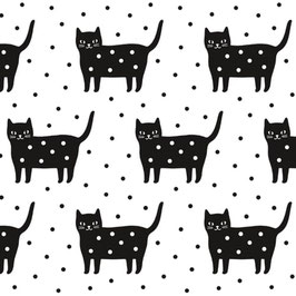 PAPIER CADEAU | WRAPPING PAPER DOTTY KITTY (Audrey Jeanne)