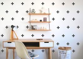 Stickers croix - blanc (Pöm le bonhomme)