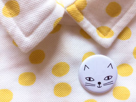 Badge Chat blanc (Audrey Jeanne)