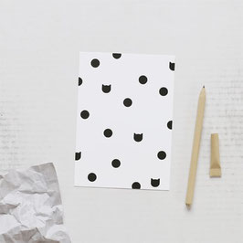 CARTE | POSTCARD DOT CAT (Audrey Jeanne)